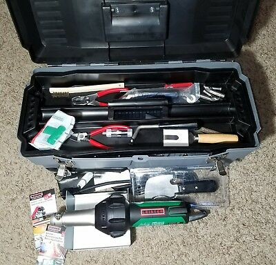 *NEW* LEISTER TRIAC ST Hot Air Tool Flooring Kit with Case and TONS OF EXTRAS!!!