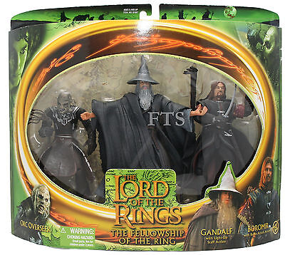 Lord of the Rings Orc Overseer, Gandalf, Boromir Toy Biz 15cm 035112810674 (MIB)