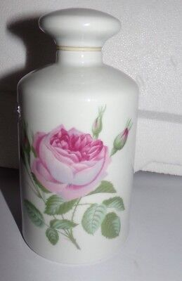 Flacon En Porcelaine De Limoges - Decor Roses