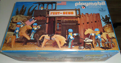 "Very rare vintage Playmobil Exclusive Set 3191 ""Fort Reno"" in original box OVP"