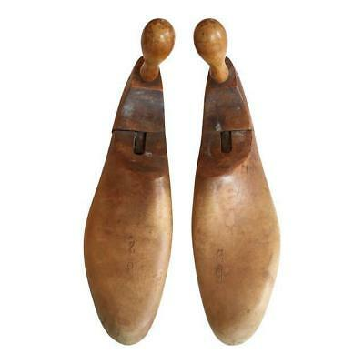 1900's Antique Wood Shoe Forms - A Pair