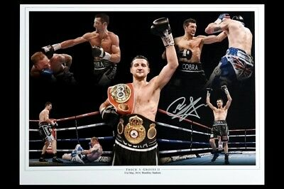 Carl Froch Box handsigniert Foto Authentisch Original + COA - 16x12
