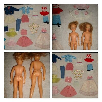 Vintage 1960s Ideal Pepper Dodi Dolls Lot of Pepper Tammy Tag Clothes