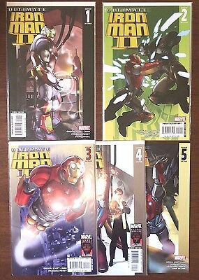 Ultimate Iron Man II     (Marvel 2007)      #1 2 3 4 5    Complete Set     VF/NM