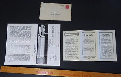 UNUSUAL RARE Advertising Flyers - 1932 Penis Pump Enhancer Massage Developer
