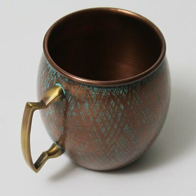 Copper Mug with Antique Patina Blue Finish - Perfect for Moscow Mules - 100% Cup