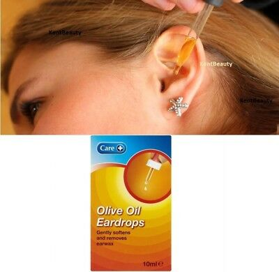 Care+ Pure Extra Virgin Olive Oil Eardrops with Dropper Softens & Removes Earwax