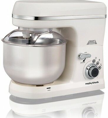 MORPHY RICHARDS White Stand Mixer Total Control Home Food Biscuit Bread Maker