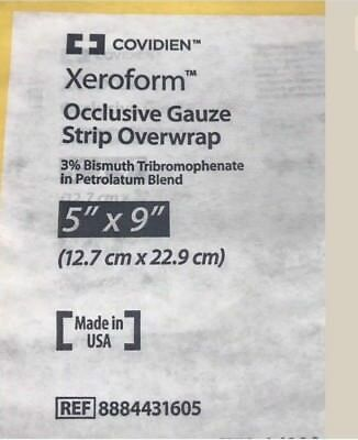 Covidien Xeroform Occlusive Gauze Strip 5x9 Lot Of 7 For $9.75 +Free Shipping