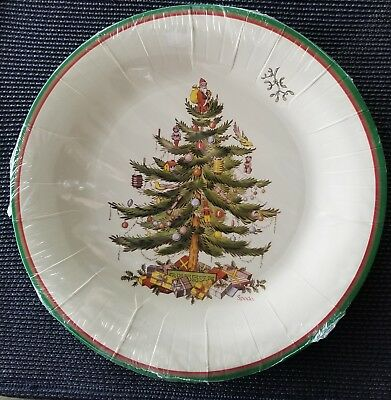 Spode Christmas Tree Paper Dinner Plates New In Package - Tw10-2021B