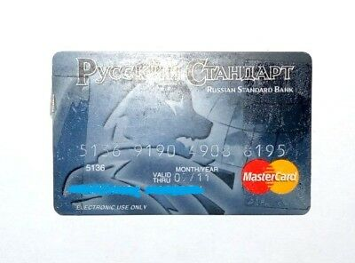 Mastercard  credit card Russian standard from Russia USED EXPIRED collectable
