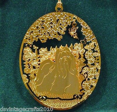Shih Tzu 24k Gold Plated Ornament New By Kingsheart Forge