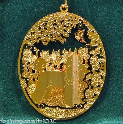 Poodle Toy 24k Gold Plated Ornament New By Kingsheart Forge