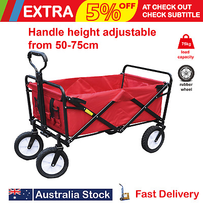 Folding Wagon Collapsible Cart Trolley Garden Camping Shopping Toys Wheelbarrow