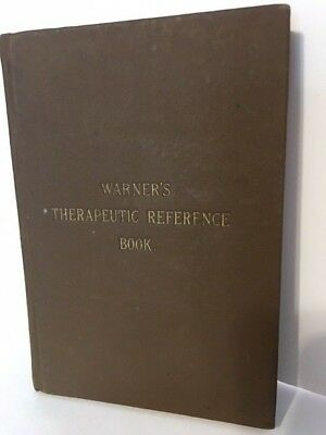Warner's Therapeutic Reference Book Original Antique Physican c1888 Formulary