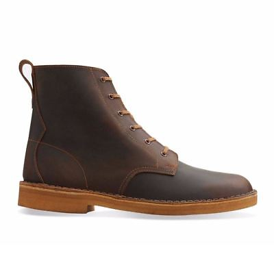 Clarks Originals Men's Desert Mali Beeswax Leather Brown Lace-up Boot NEW