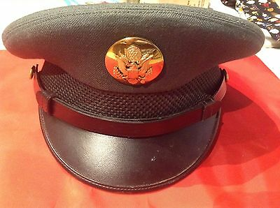 Vintage WWII US Army Military Officer Visor Cap