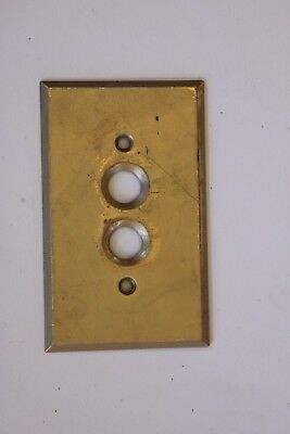 Antique-Brass-Single-Push-Button-Light-Switch-Plate-Cover