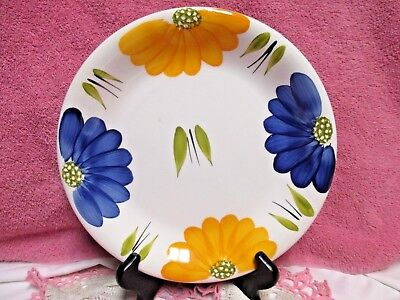 """Maxam Dinner Plate 10 1/2"""" Daisy Floral Hand Painted  Italy Excellent Plus"""