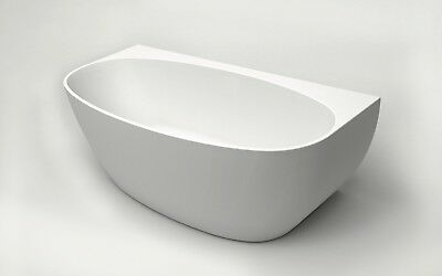 Bathroom Acrylic Free Standing Bath Tub 1700x800x580 Model Carrara Back to Wall