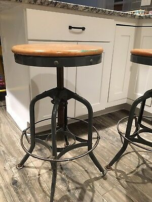 (2)Steel Draftsman Chair Drafting Stool - UHL Furniture - Toledo Metal Furniture