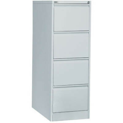 Rapid Go Steel Filing Cabinet 4 Drawers 1321 X 460 X 620Mm Silver Grey