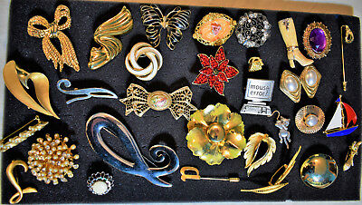 Large Lot Of Vintage To Now Brooches Pins More