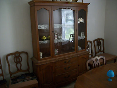 Mid Century From Late 50;s Early 60's Dinning Set With Two Buffets And 7 Chairs