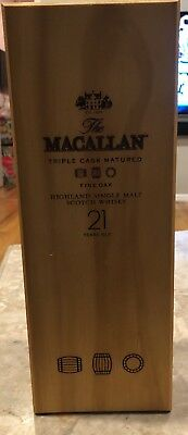 Macallan 21 Year Scotch Whiskey Original Display Box and Insert Only