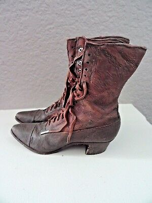Collectible Detailed Victorian Style Resin Pair of Boots Figurine Decor