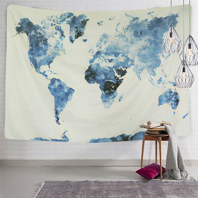 World Map Wall Tapestry Indian Wall Hanging Mandala Bedspread Home Decor Best