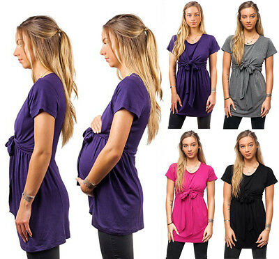 Maternity Pregnancy Breastfeeding Clothes Summer Tees Print Nursing Top/shirts
