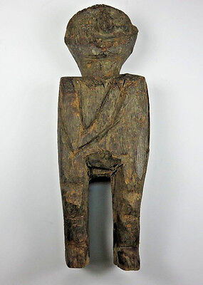 """Vintage Hand Carved Authentic Wood African Tribal Statue Totem Fertility Art 10"""""""