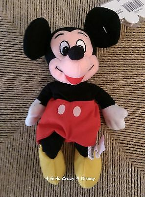 Disney MICKEY MOUSE Pie eyed ,Mouse Tag MINT beanie New  Retired HTF Vintage
