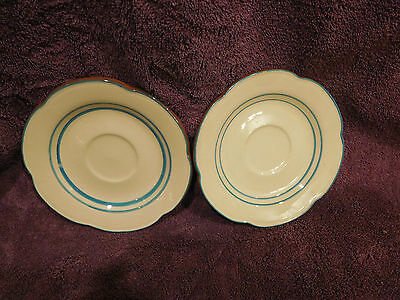 """Stangl Pottery Hand Painted 6.5"""" Saucer Plates Set of 2 - PETITE FLOWERS"""