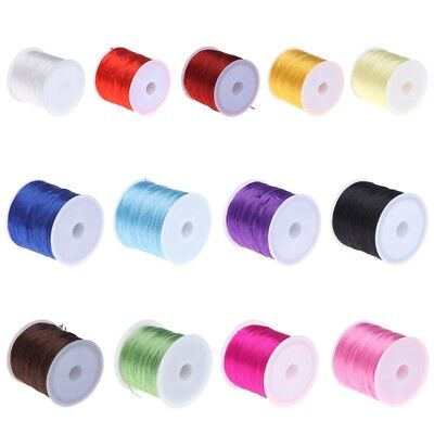 60m/Roll 0.8mm Jewelry Crystal Elastic Rope Beading Wire Bracelet Necklace Cord