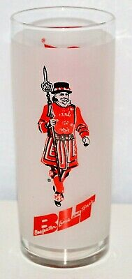 Vintage Beefeater Frosted BLT Glass by Libbey (Beefeater, Lime and Tonic)
