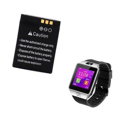 380mAh 3.7V Rechargeable Replacement Li-ion Battery Backup For DZ09 Smart Watch