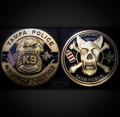 Tampa Police K-9 Unit Challenge Coin