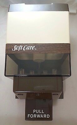 Vintage Johnson Soft Care Wall Mount Commercial Soap Dispenser BROWN Faux Wood