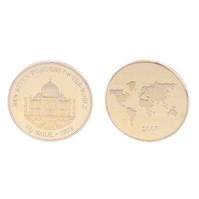 Golden Taj Mahal India Commemorative Challenge Coin Souvenir Art Collection Gift