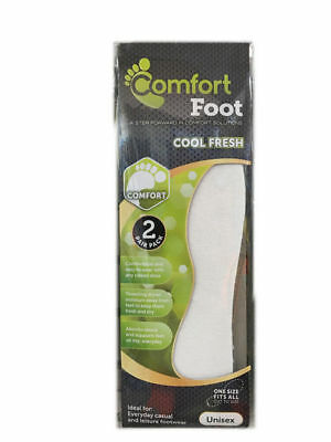 12 Packs of 2 Pairs Towelling Foam Insole Support OSFM Unisex Bulk Wholesale