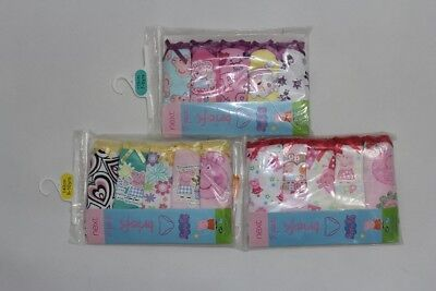 5Pairs Peppa Pig Girls 100% Cotton Knickers Briefs Underwear Sz 3-4.5-6.7-8.9-10