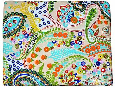 Indian Decorative Printed Sewing Paisley Print Fabric Craft Material By 5 Yard
