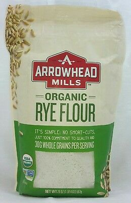 Arrowhead Mills Organic Rye Flour, 20 Ounce (Pack of 6) -  Exp. 07/18