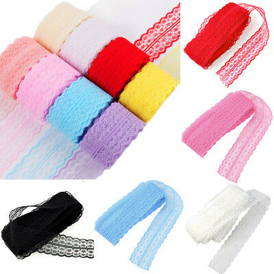 UK DIY EMBROIDERED Net Lace Trim Ribbon Handicrafts Sewing Craft 10M/Roll  4 5cm