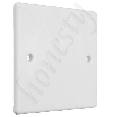 White Plug Electric Mains Spare Wall Switch Socket Single Blanking Plate Cover