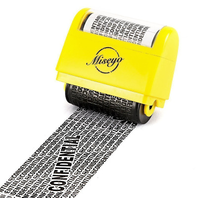 Miseyo Wide Roller Stamp Identity Theft Stamp 1.5 Inch Perfect for Privacy Prote