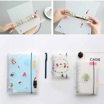 A5/A6/A7 Transparent Binder Cover Folder File For Journal Note Book Diary