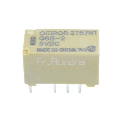 New 5V Relay G6S-2-5VDC 2A 250VAC/DC220V 8PIN for Omron Relay